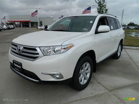 2012 blizzard white pearl toyota highlander 58238630 gtcarlot car color galleries