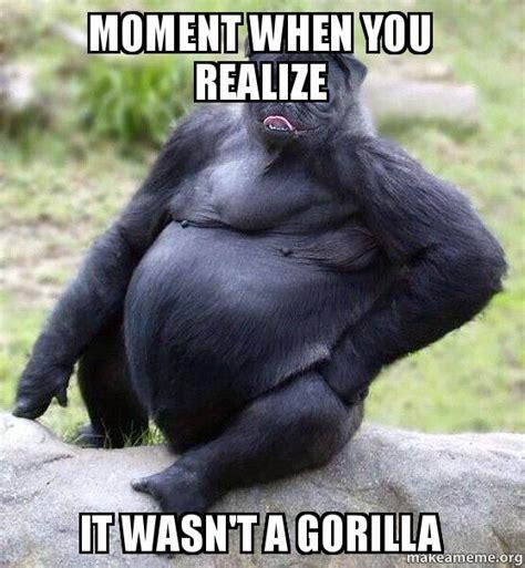 Gorilla Meme - moment when you realize it wasn t a gorilla make a meme