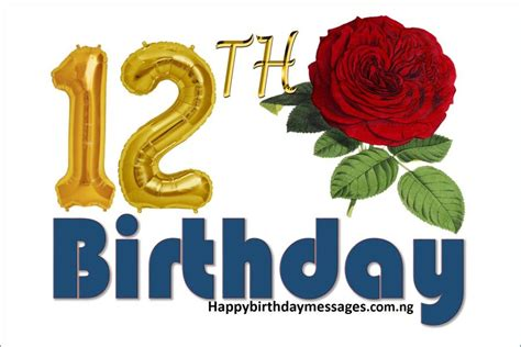 12 Wishes Of - top 20 12th birthday wishes greetings quotes happy
