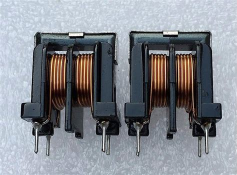common mode choke winding uu10 5 common mode choke inductors 0 6 copper wire 6a inductance 2mh uu10 5 filter bifilar