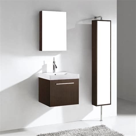 Modern Bathroom Fittings Madeli Arezzo 20 Quot Bathroom Vanity Walnut Free Shipping Modern Bathroom