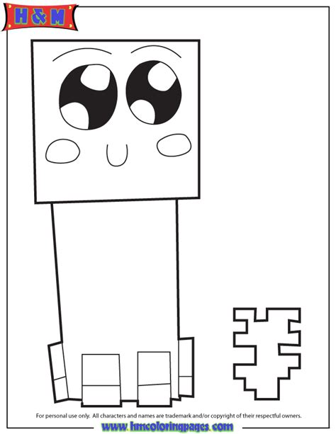 cute creeper coloring page h m coloring pages