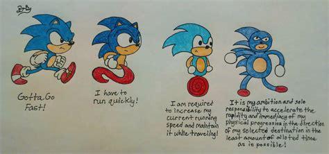 Sonic Gotta Go Fast Meme - gotta go fast increasingly verbose sonic meme by