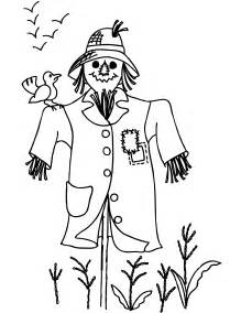 scarecrow coloring page free printable scarecrow coloring pages for
