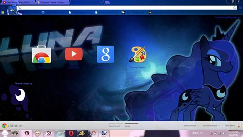princess themes for google chrome mlp princess luna chrome theme by barela on deviantart