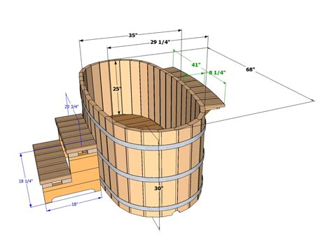 Wood Fired Bathtub Ofuro Tubs Specifications Wooden Ofuros