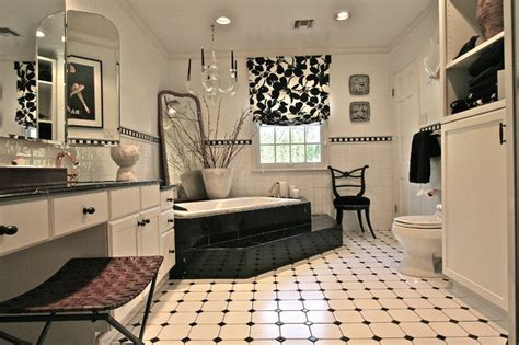 Decorating Ideas In Black And White Black And White Bathroom Contemporary Bathroom New