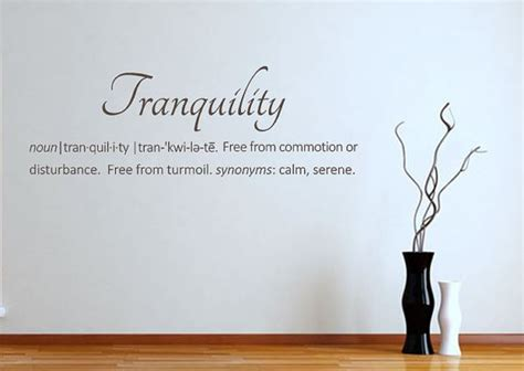 definition of tranquility wall decal spa by