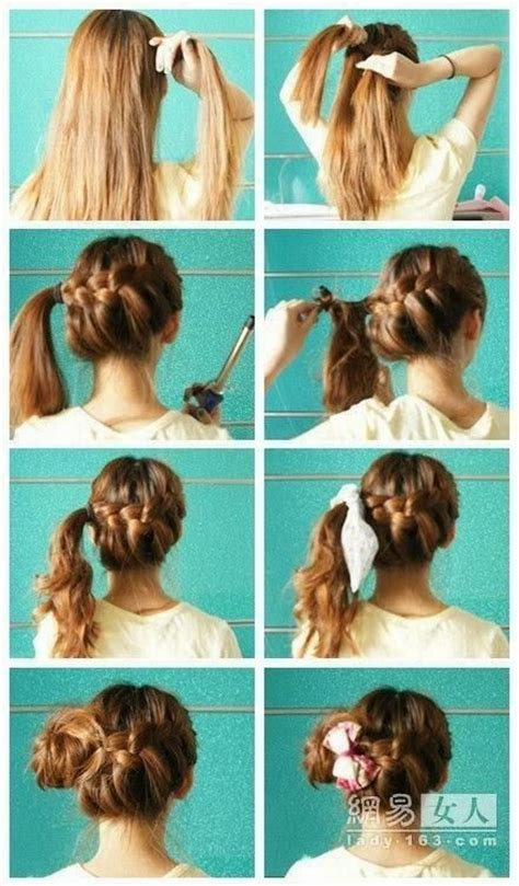 easy hairstyles for medium hair for school step by step pretty braided updo hairstyles for medium hair