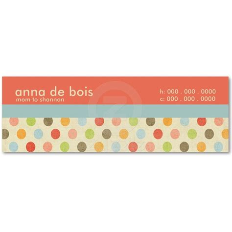 Polka Dot Business Card Templates Free by 25 Best Business Card Templates Images On