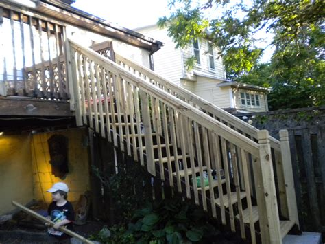 how to build a banister on a staircase how to build a handrail for garage steps
