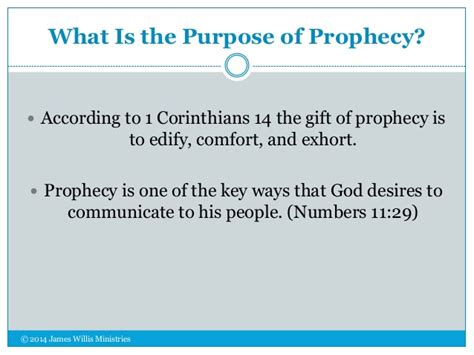 prophecy is for edification exhortation and comfort period of spiritual instruction realms of the prophetic