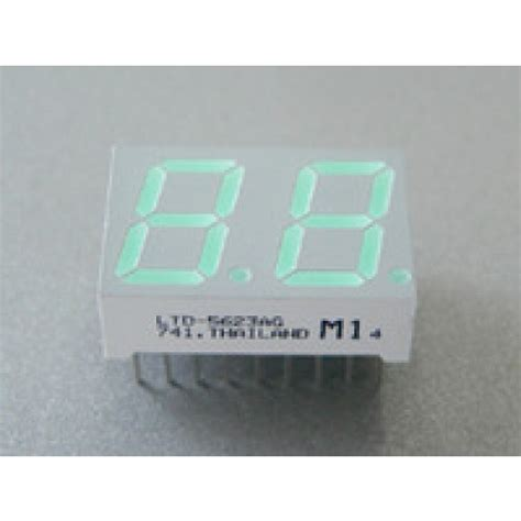 cathode led display led display 7 segment 2 digit 0 56 inch common cathode hi green