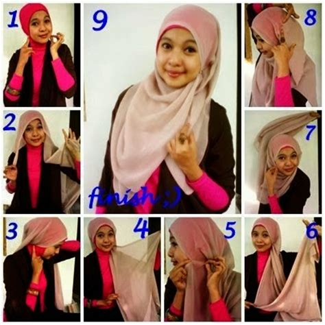 gambar tutorial jilbab syar i model jilbab syar i untuk wisuda dan cara memakainya 2018