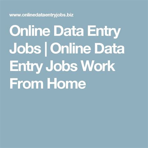 Work From Home Jobs Online Data Entry - 25 best ideas about online data entry jobs on pinterest data entry job data entry