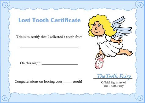 free printable tooth certificate template tooth letter template out of darkness