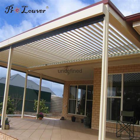 automatic opening roof louver with rain sensor pergola