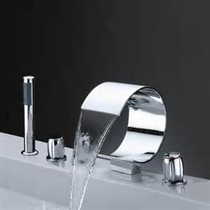 shower heads for bathtubs faucet widespread three handles waterfall bathroom bathtub faucet