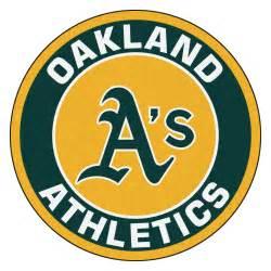 Coco Coir Doormat Oakland Athletics Logo Roundel Mat 27 Quot Round Area Rug