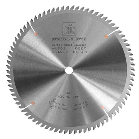 8 Table Saw Blade by Table Saw Blade Pro Series Leitz Cross Cut 80t