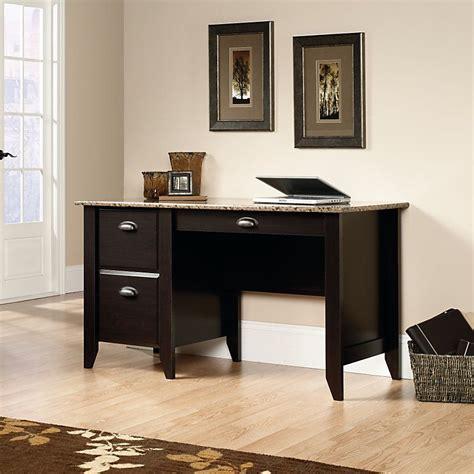 sauder samber desk granite jamocha wood sauder 174 samber desk granite jamocha wood item 549902