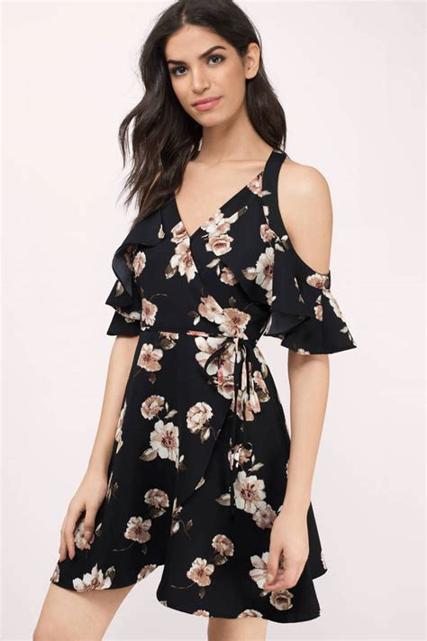 Dress Black Flower floral dresses flower dresses floral print maxi