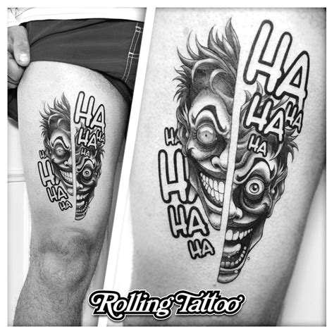 joker tattoo rolling tattoo