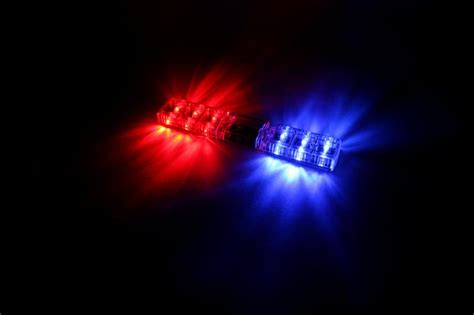 red blue police lights police deluxe light package