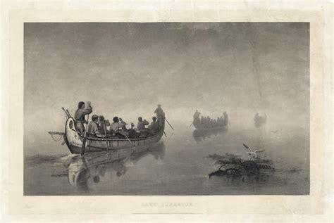 canoes in a fog lake superior lake superior aka canoes in a fog lake superior the