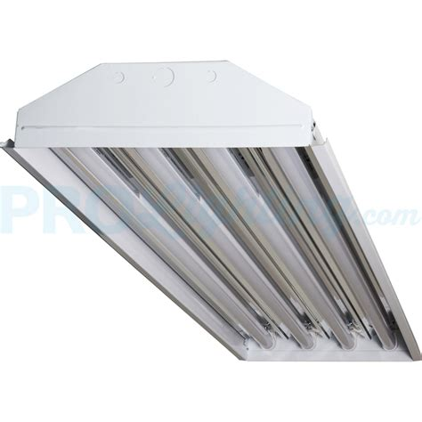 High Bay Led Lighting Fixtures Techbrite B4144ssumxx 18w5k 4 Light T8 Led High Bay Fixture 5000k 9 000 Lumens 125 Lm W