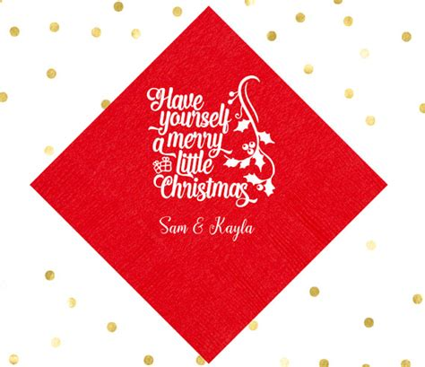 items similar to custom printed napkin for christmas items similar to personalized holiday party napkins