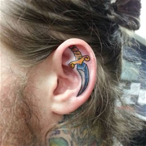 tattoo on back of ear cartilage ear tattoos best tattoo ideas gallery