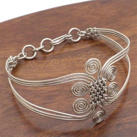 bracelet wire for earthworks webmarket intricate silver wire bracelet
