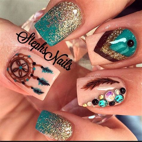 nail art tutorial in hindi 25 best ideas about dream catcher nails on pinterest