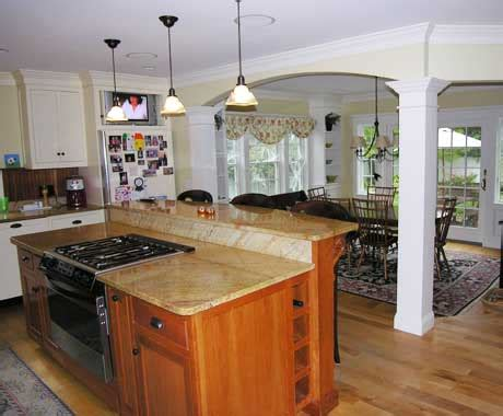 kitchen remodel with island kitchen remodeling new england remodeling solutions
