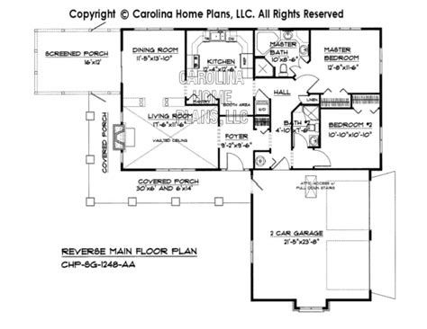 reverse ranch house plans small country ranch house plan chp sg 1248 aa sq ft affordable small home plan under