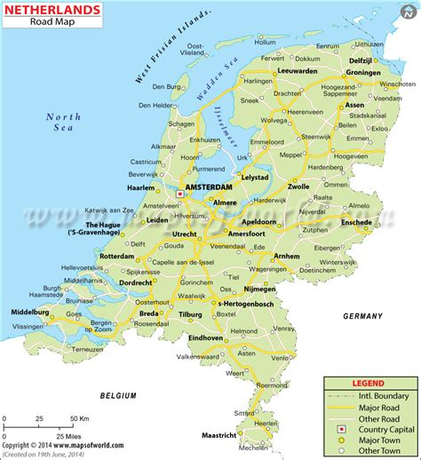 netherlands global map netherland road map road map of netherland