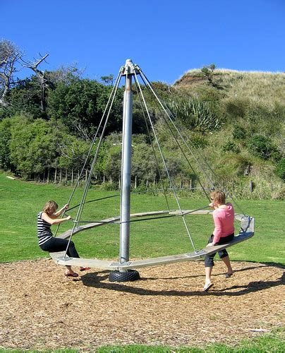 hills chimpanzee swing set witch s hat at kai iwi beach we all managed to get on