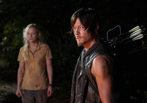 are walking dead stars norman reedus and emily kinney walking dead stars norman reedus and emily kinney are