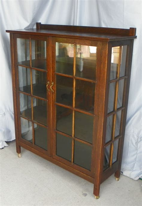 Bargain John's Antiques » Blog Archive Antique Mission Oak Curio China Cabinet Arts and Crafts