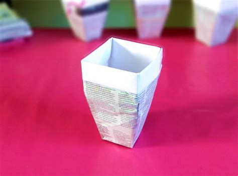 Origami Flower Pot - joost langeveld origami page