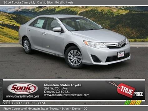 2014 Toyota Camry Silver Classic Silver Metallic 2014 Toyota Camry Le Ash