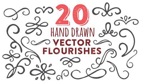 freebie hand drawn vector flourishes