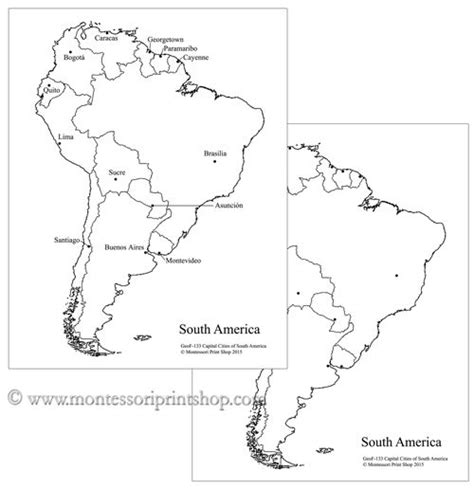 south america map capital cities 18 best images about study of south america on