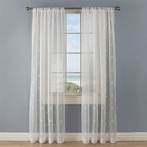 curtain rod anchors crossed anchors rod pocket sheer window curtain panel in