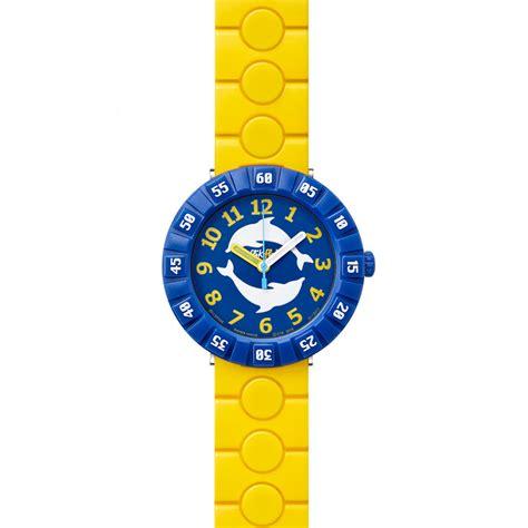 Swatch Swiss Motif flik flak kinderuhr dolph in yellow f 252 r m 228 dchen jungen