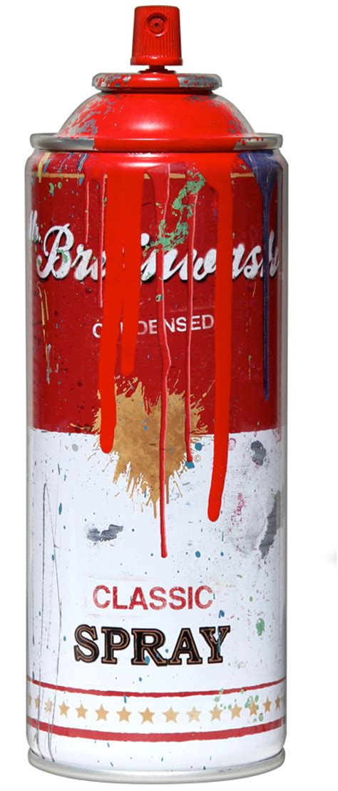 spray paint in a can spray can by mr brainwash 411posters