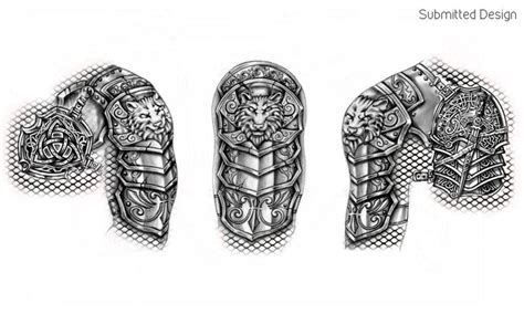 body armour tattoos designs best 25 shoulder armor ideas on armor