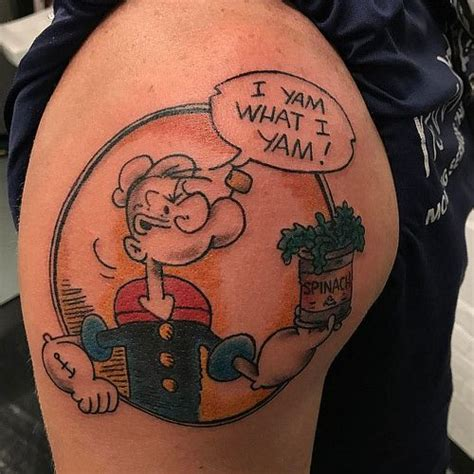 popeyes tattoo image result for popeye i yam what i yam