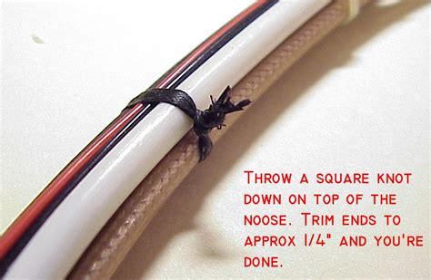 how to tie electrical wire aeroelectric connection wire bundle tying techniques